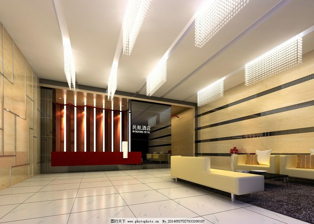 大堂 酒店 工装 前台 背景墙 室内设计 环境设计 设计 72dpi jpg