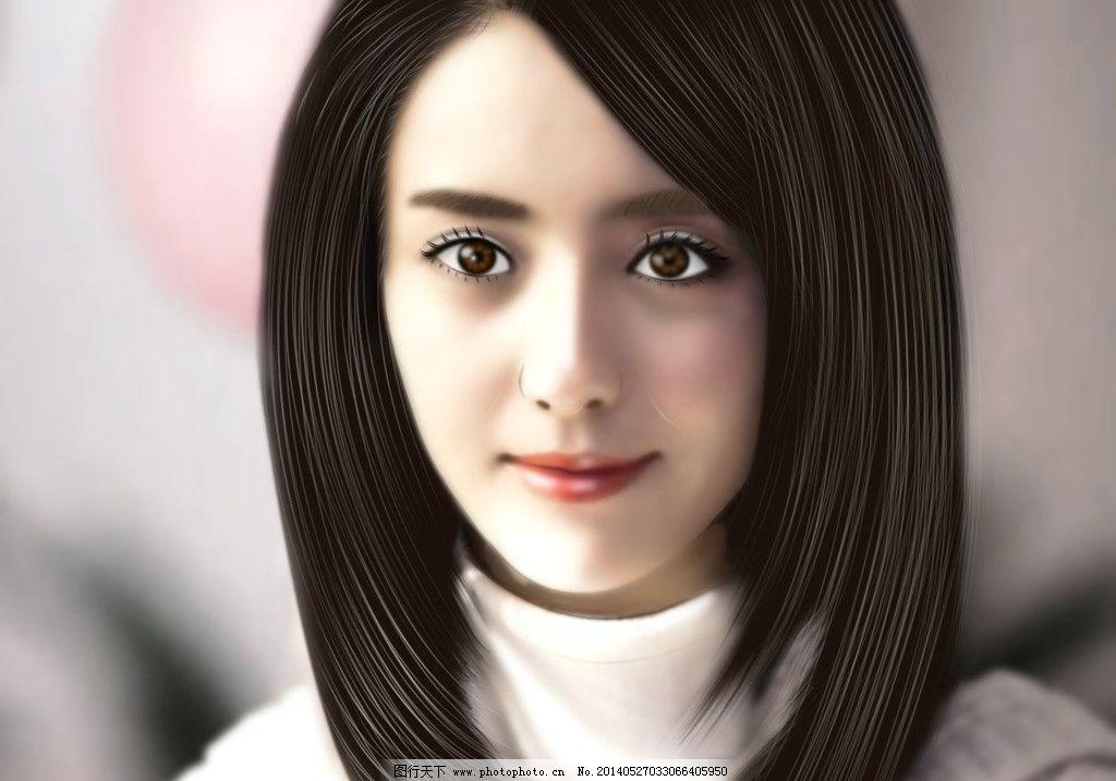 相片转手绘美女过程 普通相片转手绘人物 手绘美女过程 美女相片美化