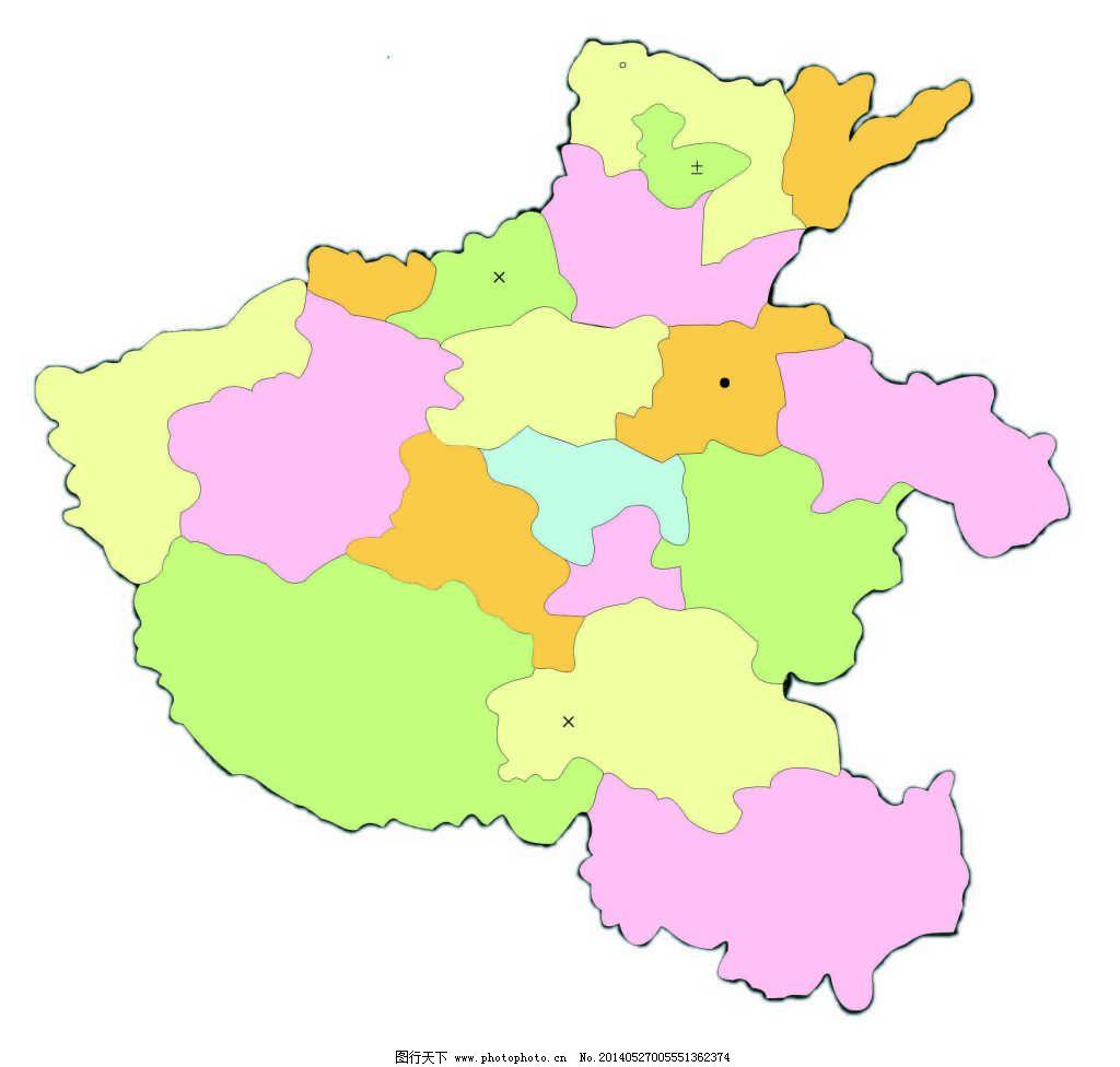河南地图免费下载 矢量河南省地图免费下载 矢量河南省地图 河南省