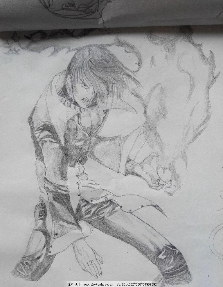 八神庵 拳皇 铅笔画 iorl 游戏 美术绘画 文化艺术 摄影 72dpi jpg