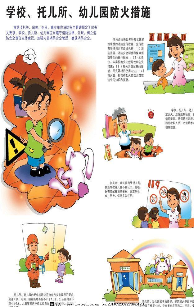 幼儿园火灾预防及逃生图片