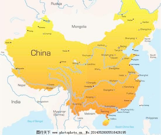 中国省会城市分布地图矢量素材