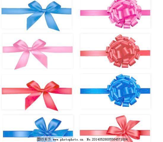 蝴蝶结与花结矢量素材免费下载 蝴蝶结 花结 丝带 丝带 蝴蝶结 花结