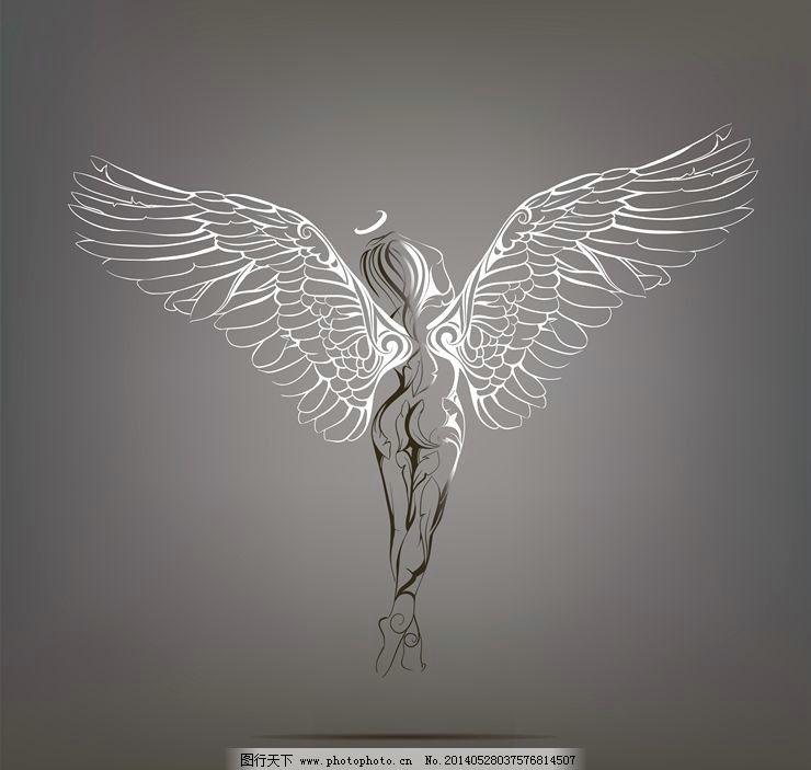 天使翅膀恶魔翅膀 翅膀 天使翅膀 恶魔翅膀 wing 纹身图案 纹身设计