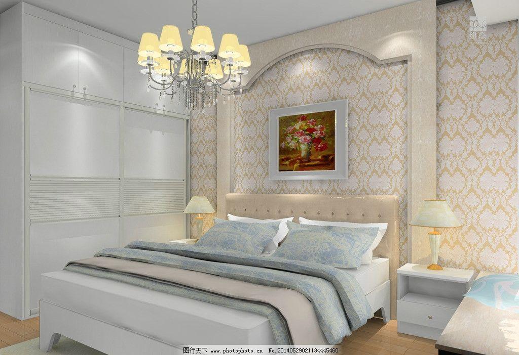 家装      家装效果图 背景墙 窗帘 飘窗 挂画 床头柜 衣柜 床 3d家装
