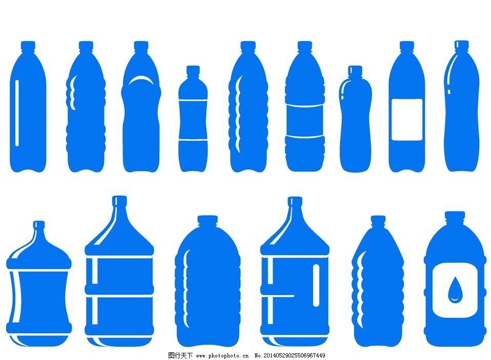 抽象瓶子设计手绘