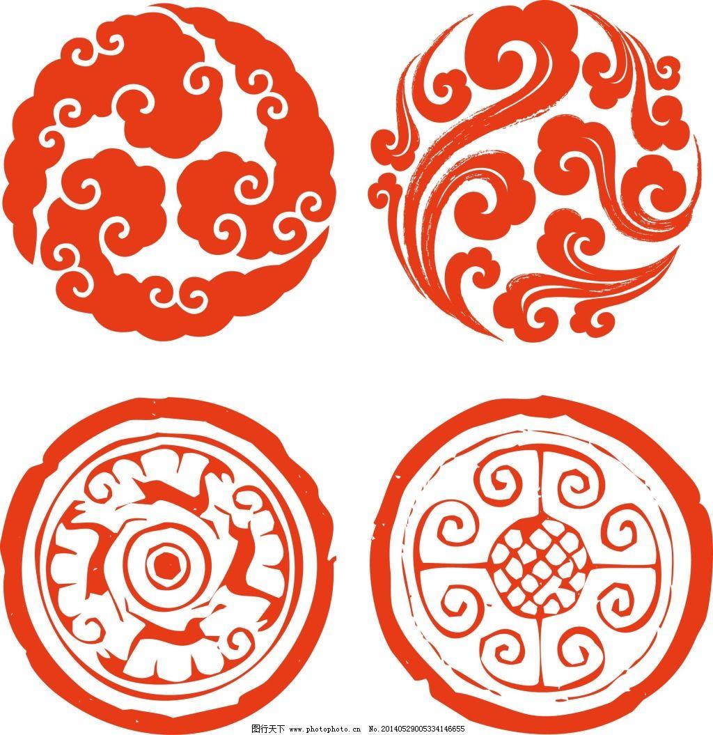 吉祥图案 吉祥图案免费下载 圆形花纹 圆形矢量花纹 矢量图 广告设计