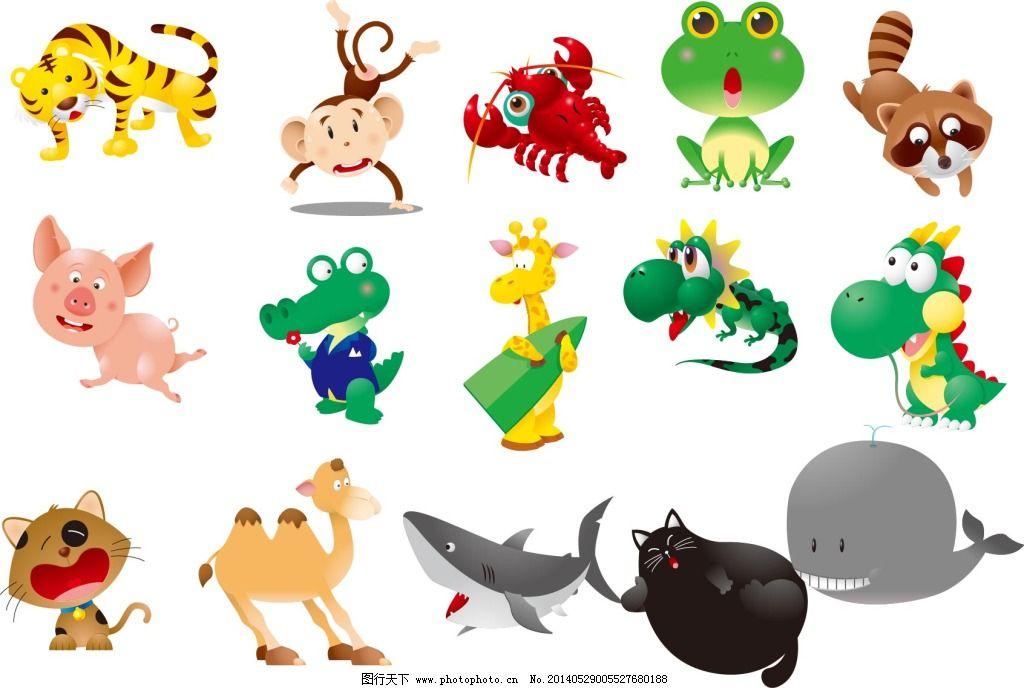 动物 卡通 可爱 老虎 卡通 可爱 动物 老虎 矢量图 其他矢量图