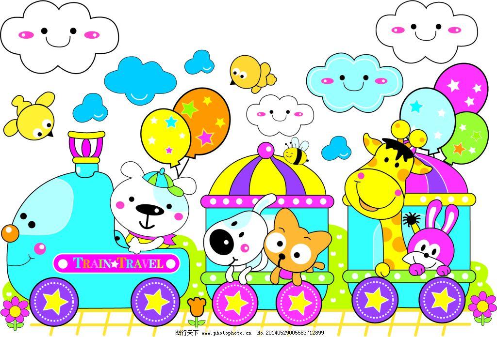 幼儿园环创小动物拿气球