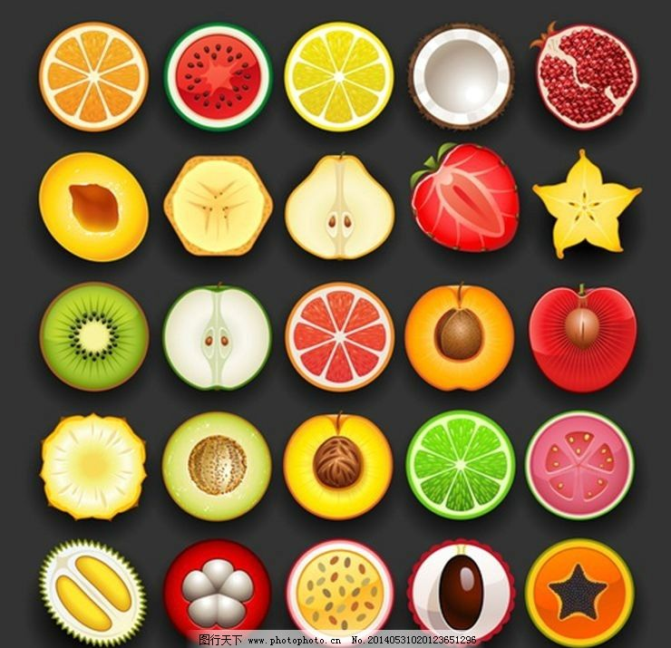 水果图标icon标志图片