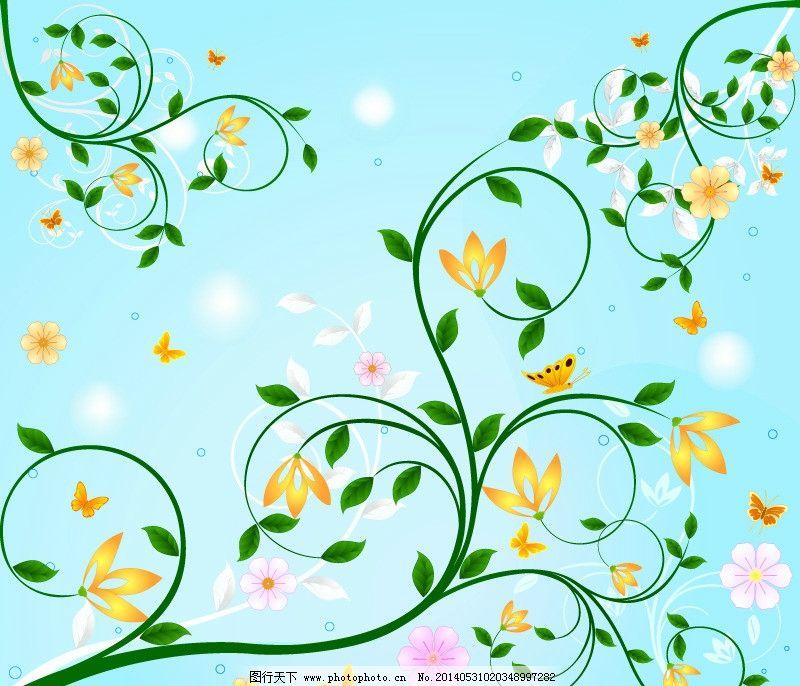 植物花纹 花纹 花边 绿色 绿叶 欧式花边 藤蔓 花藤 装饰花纹 线条 传