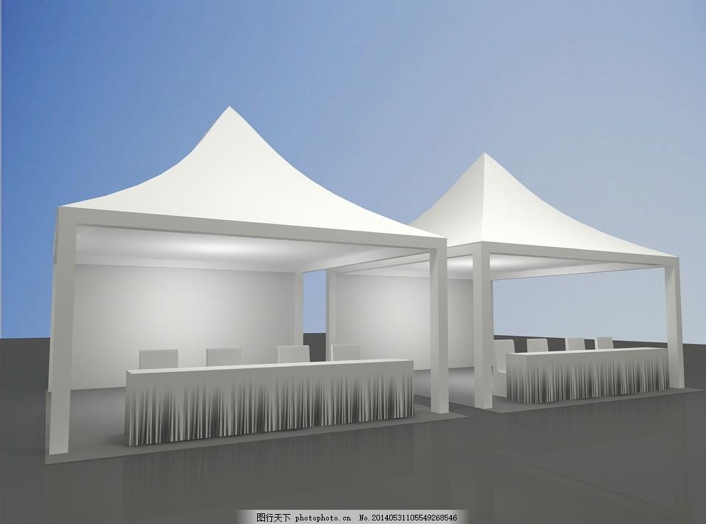 篷房 茶歇 冷餐区 欧式篷房 桌椅 灰色图片