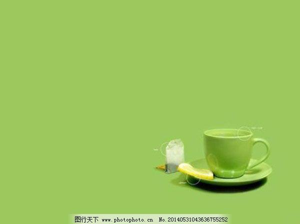 茶杯ppt模板免费下载 ppt模板 茶杯 绿色温馨 论文答辩 绿色温馨 茶杯
