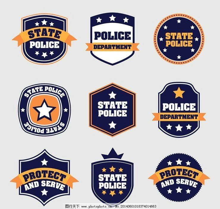 警徽警察图标图片_动漫人物_动漫卡通_图行天下图库