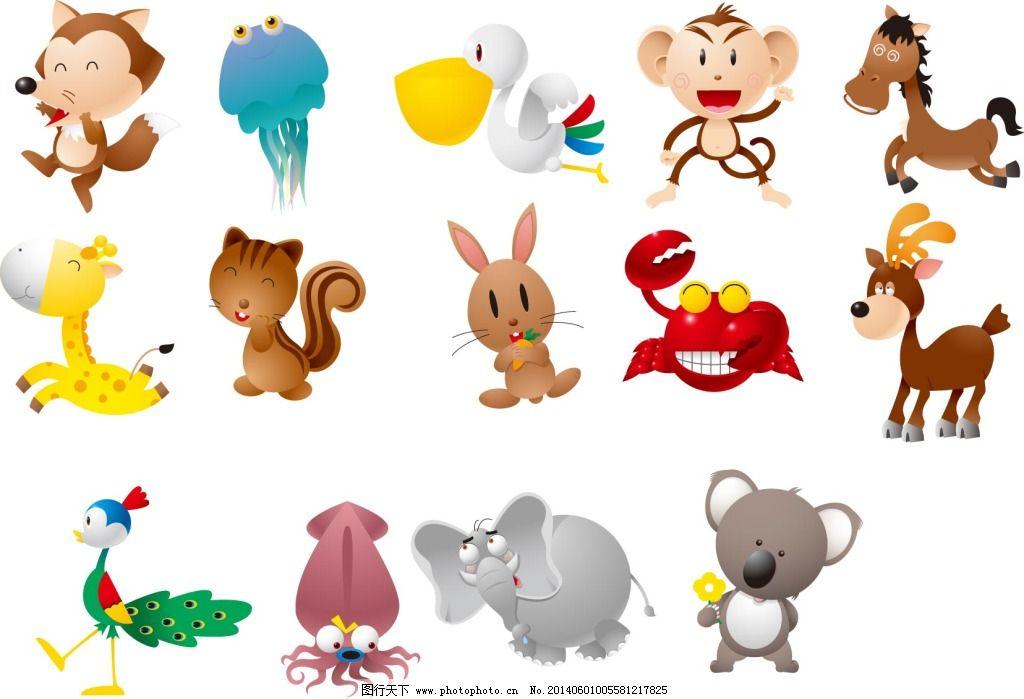 可爱的小动物免费下载 动物 猴子 卡通 可爱 可爱 卡通 动物 猴子