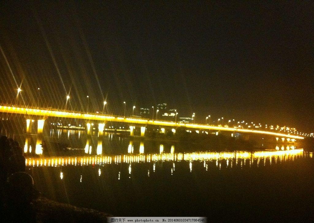 大桥 夜景 灯光 吊桥 跨海大桥 建筑景观 摄影
