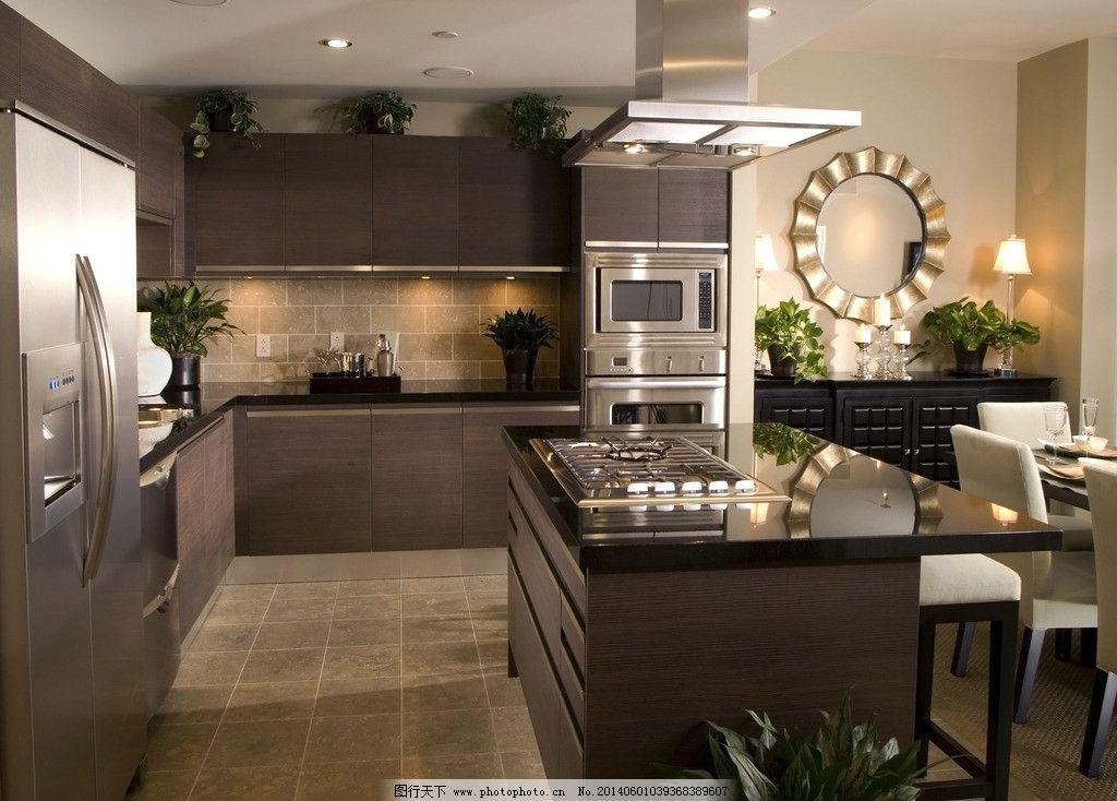 摄影图库 建筑园林 室内摄影  厨房 油烟机 餐桌 一体式厨房 西式厨房图片