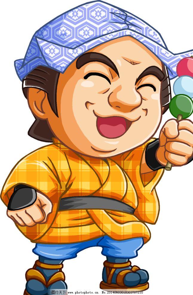 卡通日式男人图片