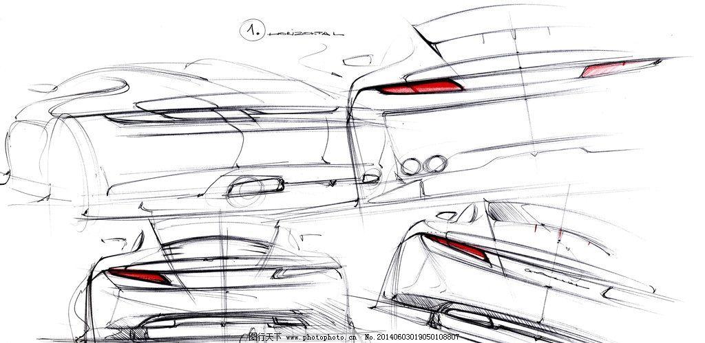 汽车 线稿图图片
