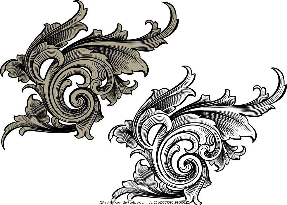花纹设计 花纹图案 花纹背景 卡通花纹 纹身图案 图腾 标志图标 其他