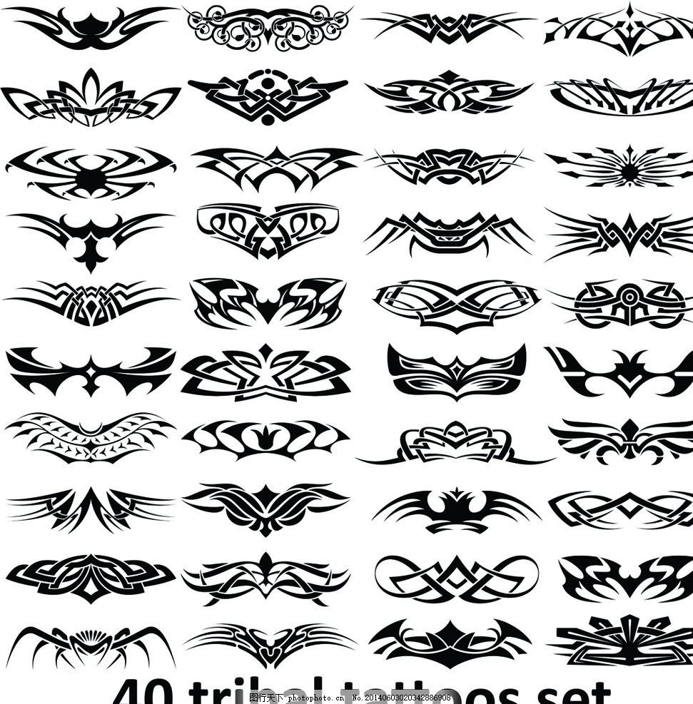 设计图库 底纹边框 花边花纹  纹身设计 纹身图案 t恤图案 图腾 恐怖