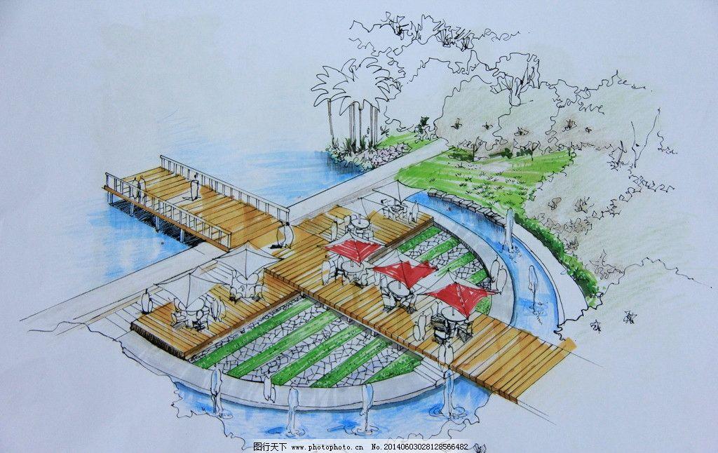 滨水木节点时尚设计图片栈道二层别墅设计图图片
