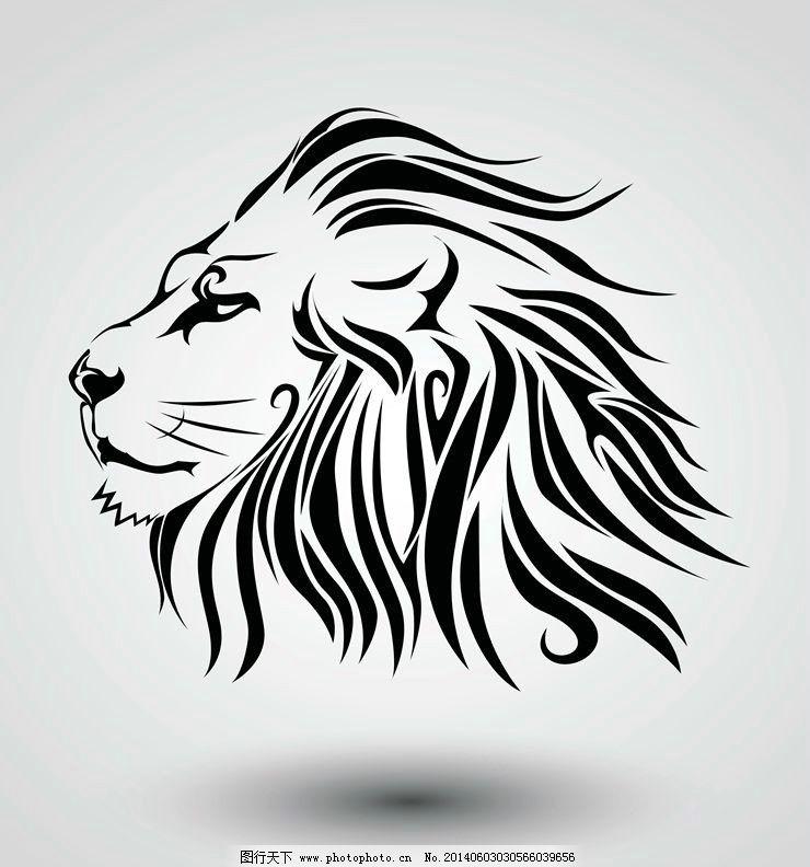 纹身花纹图腾图案 狮子头