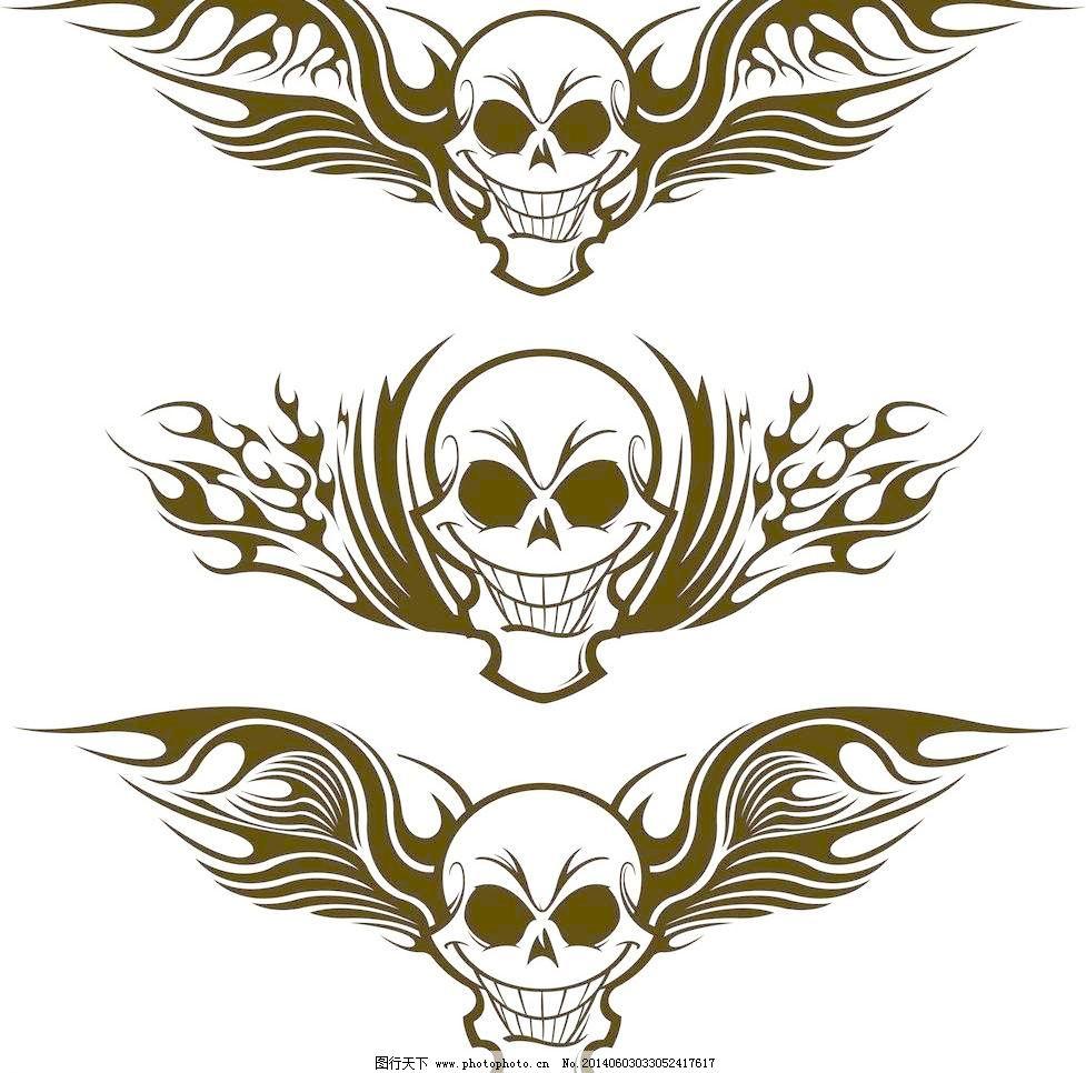 纹身设计矢量素材 纹身设计模板下载 纹身设计 纹身图案 t恤图案 翅膀