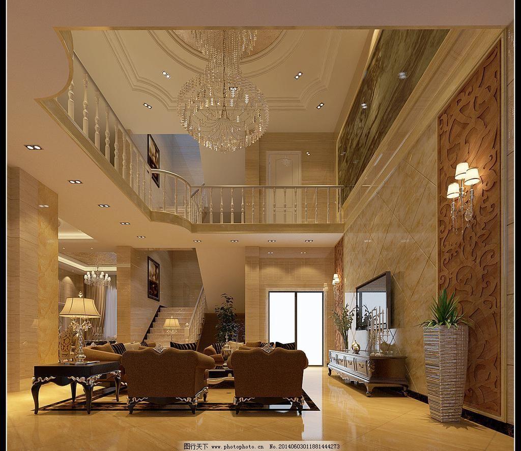 别墅图片效果图大厅_素材墙画_出售别墅_图行装饰砀山壁纸图片