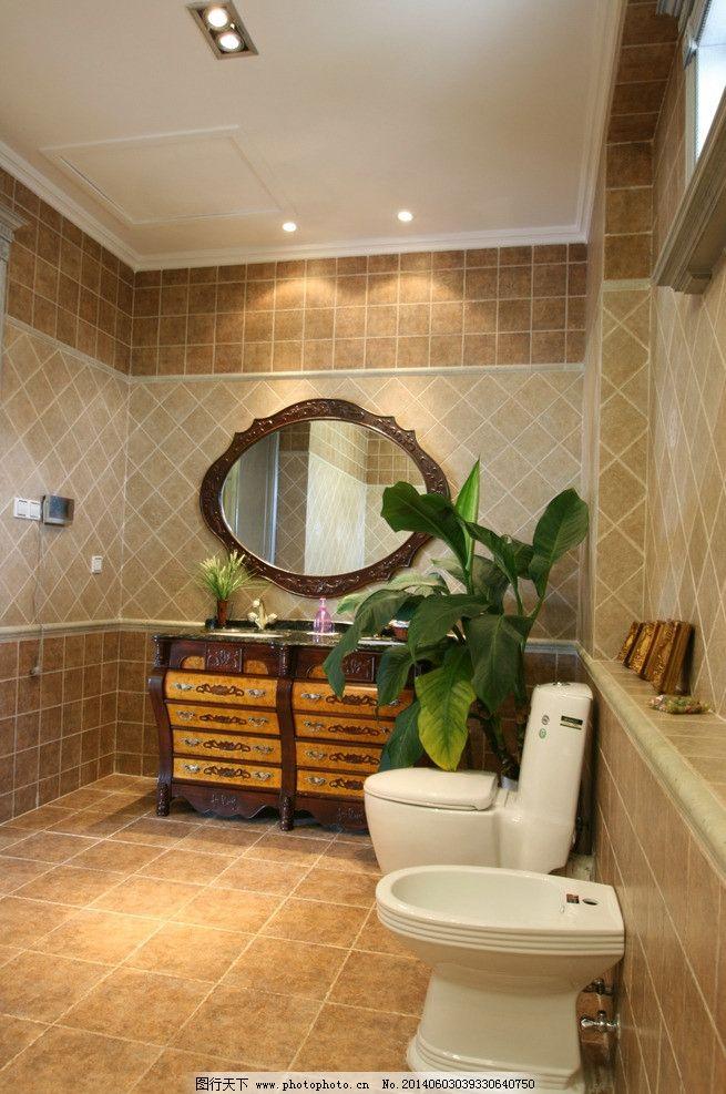 别墅装修        别墅洗手间 洗手间装修 空间设计 装修图设计素材
