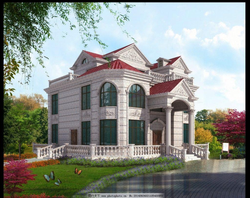 别墅石材设计        别墅 欧式别墅 石材设计 外墙干挂 3d作品 3d图片
