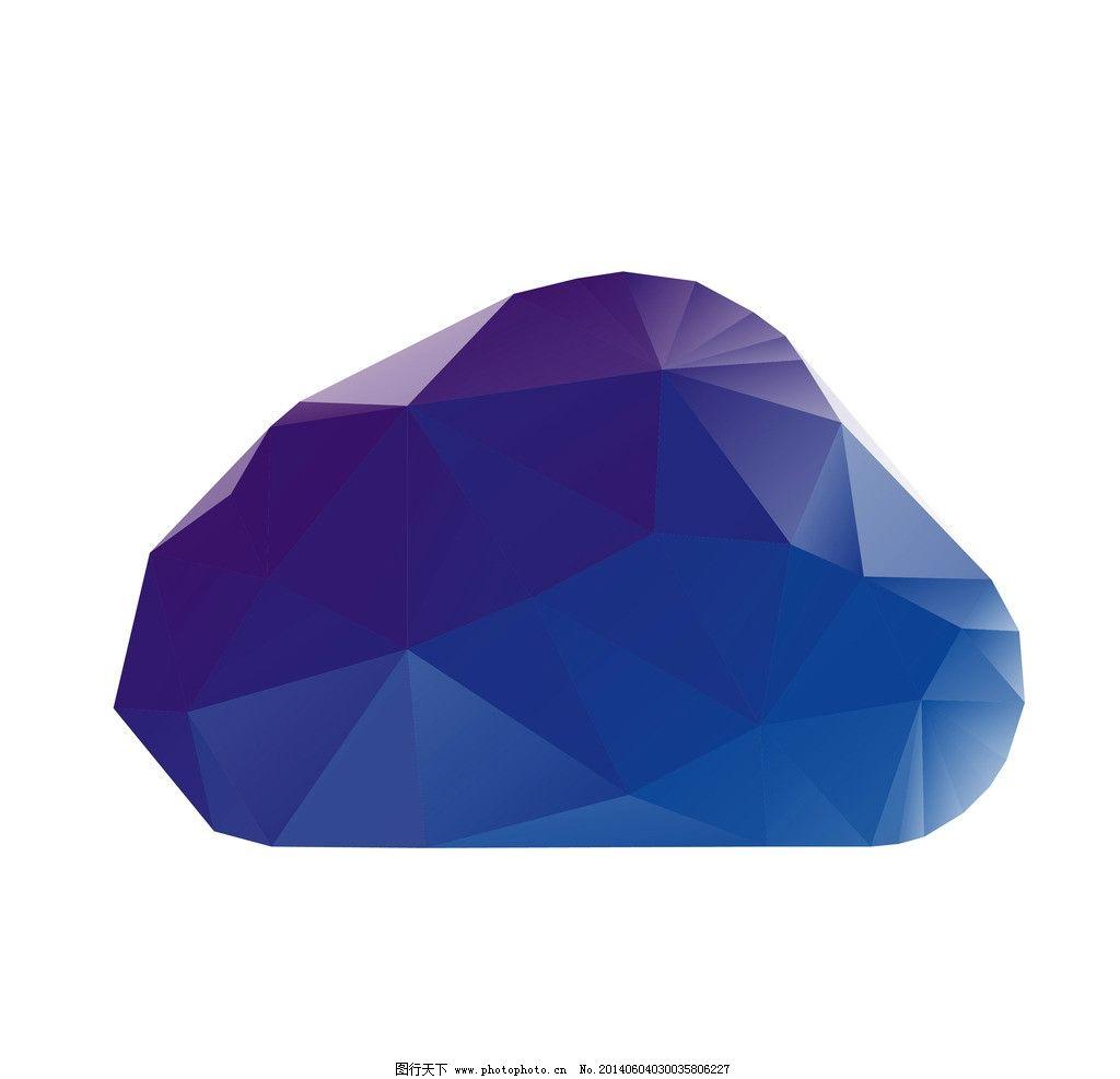 云 多变形图片,颜色 广告 蓝色 创意 渐变 海报-图行