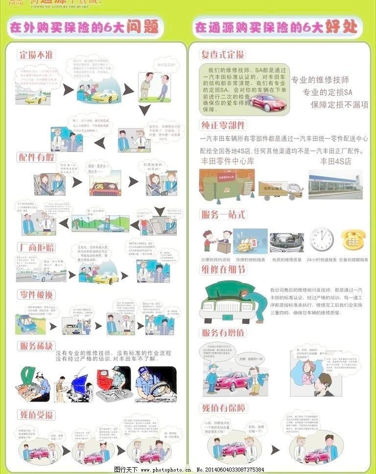 丰田汽车保险漫画图片