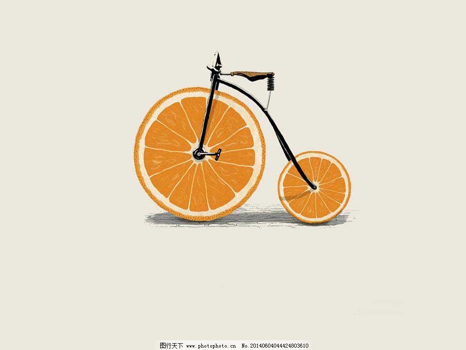 橙子创意ppt模板免费下载 创意 个性 灰色 简约 创意 个性 简约 灰色