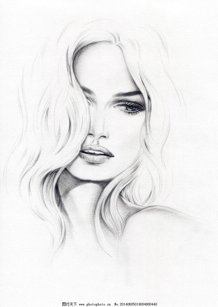 女孩 女孩画像 女孩肖像 女人 女人画像 女人肖像 画画 水彩画 绘画书