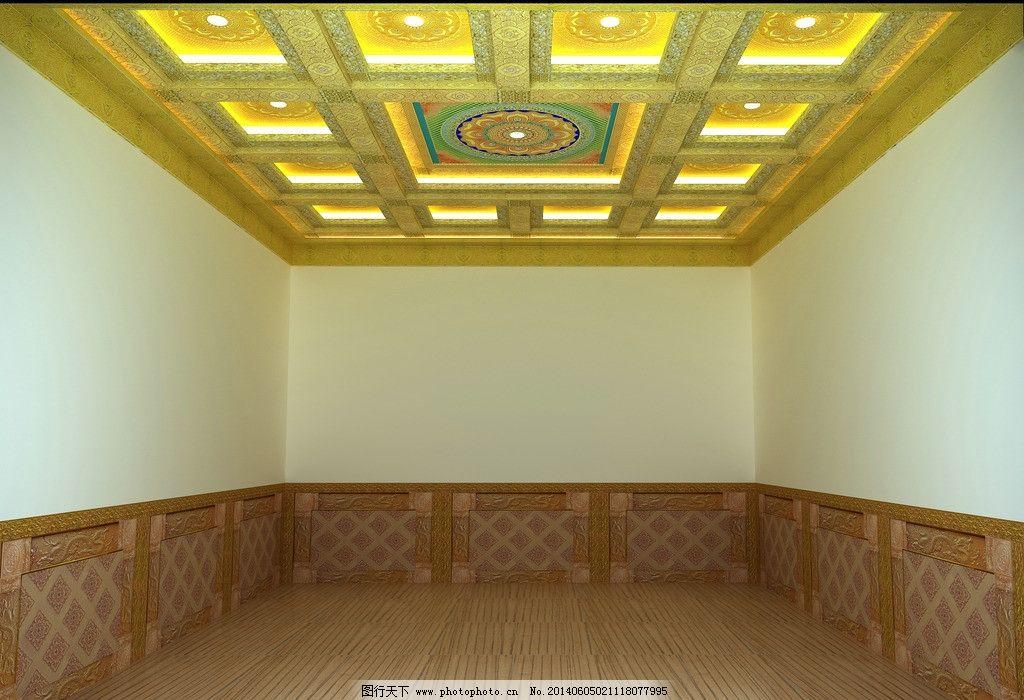 禅堂单间顶棚装修效果图片