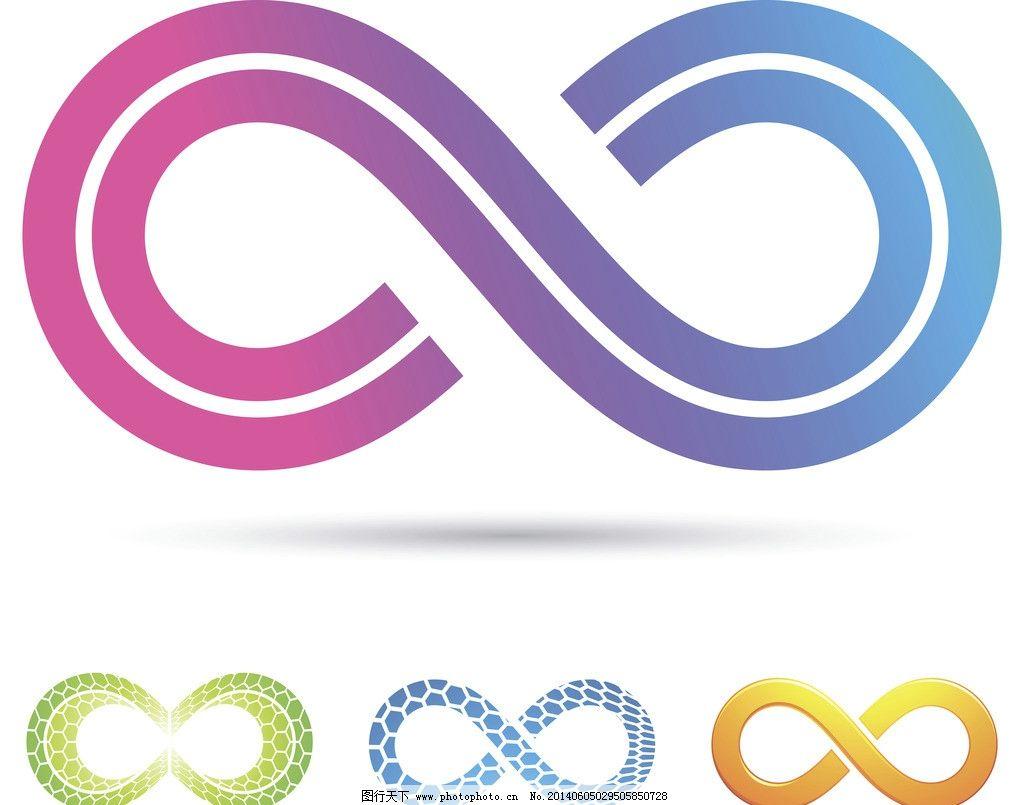 无穷大符号 极限 绝对无限 手绘 数字 数学 科学 设计 广告设计矢量