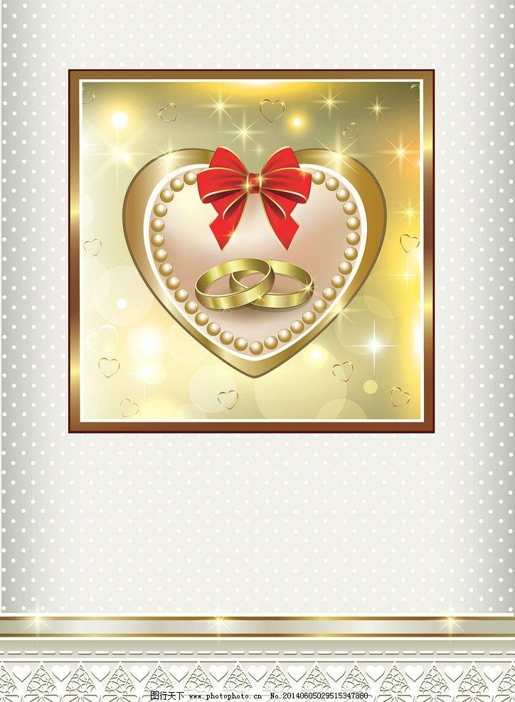 婚礼邀请卡 结婚卡 婚礼卡 婚庆 手绘花卉 文本框 丝带 蝴蝶结