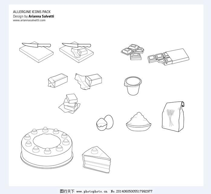 手绘食物免费下载 ai 黑白 食物 矢量图 食物 黑白 矢量图 ai 其他