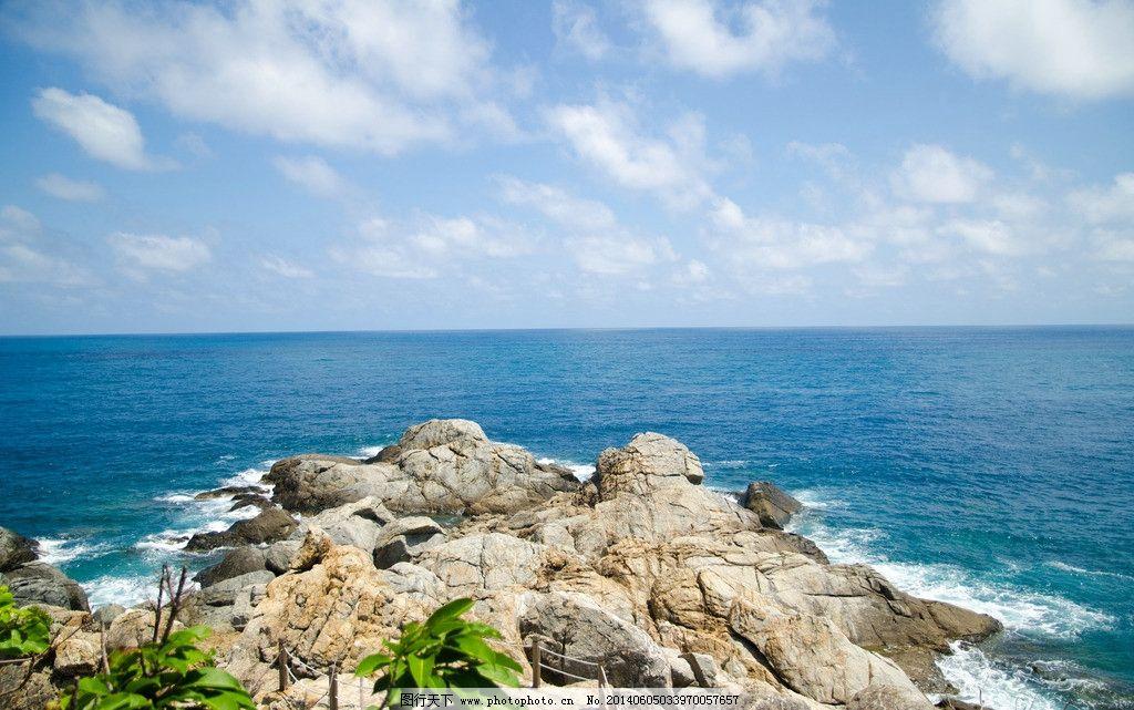 大海 三亚 海景 云彩 蓝天 白云 海边 西岛 礁石 国内旅游 旅游摄影