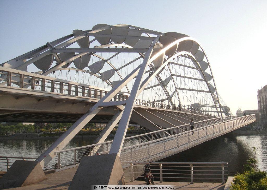 天津海河桥 拱桥 城市桥梁 建筑设计 天津 海河 交通工具 现代科技 摄