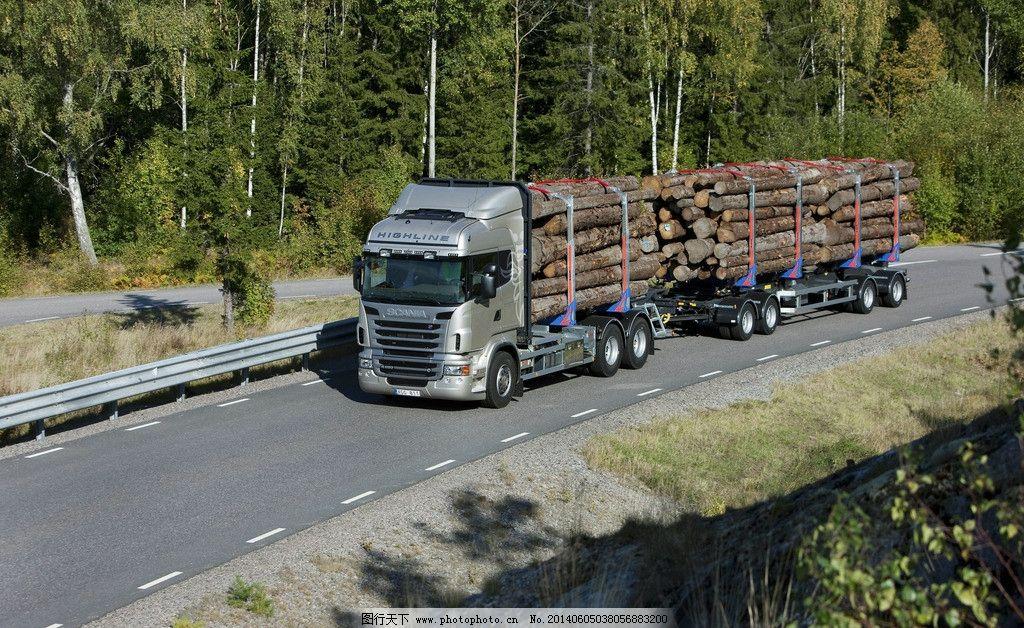 斯堪尼亚 木材搬运车图片