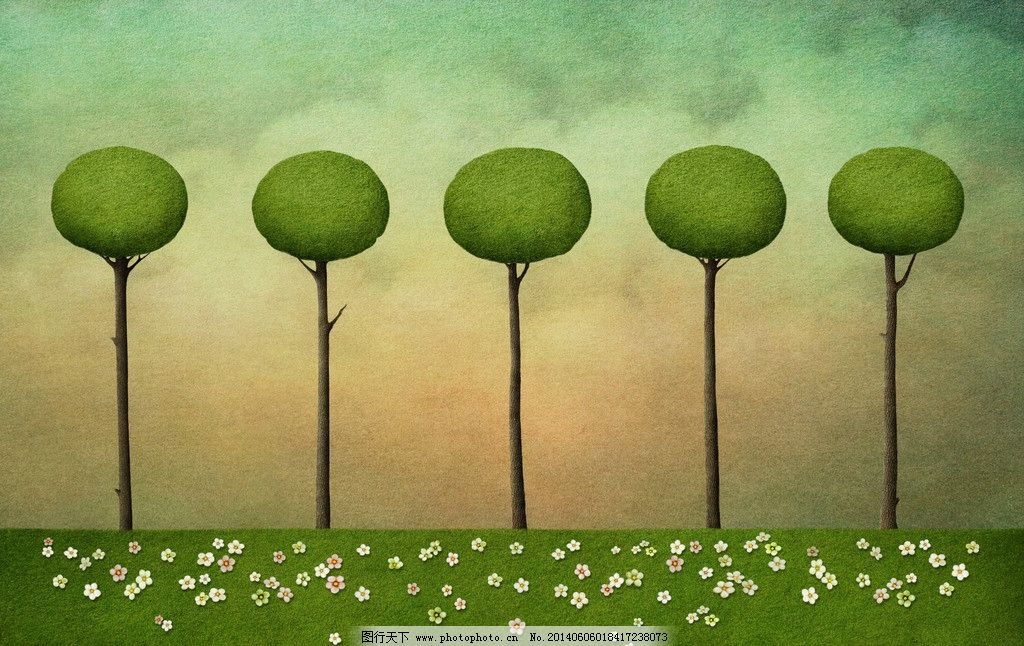 树木森林梦幻世界 树木 森林 树林 童话世界 梦话世界 画画 画作 神秘