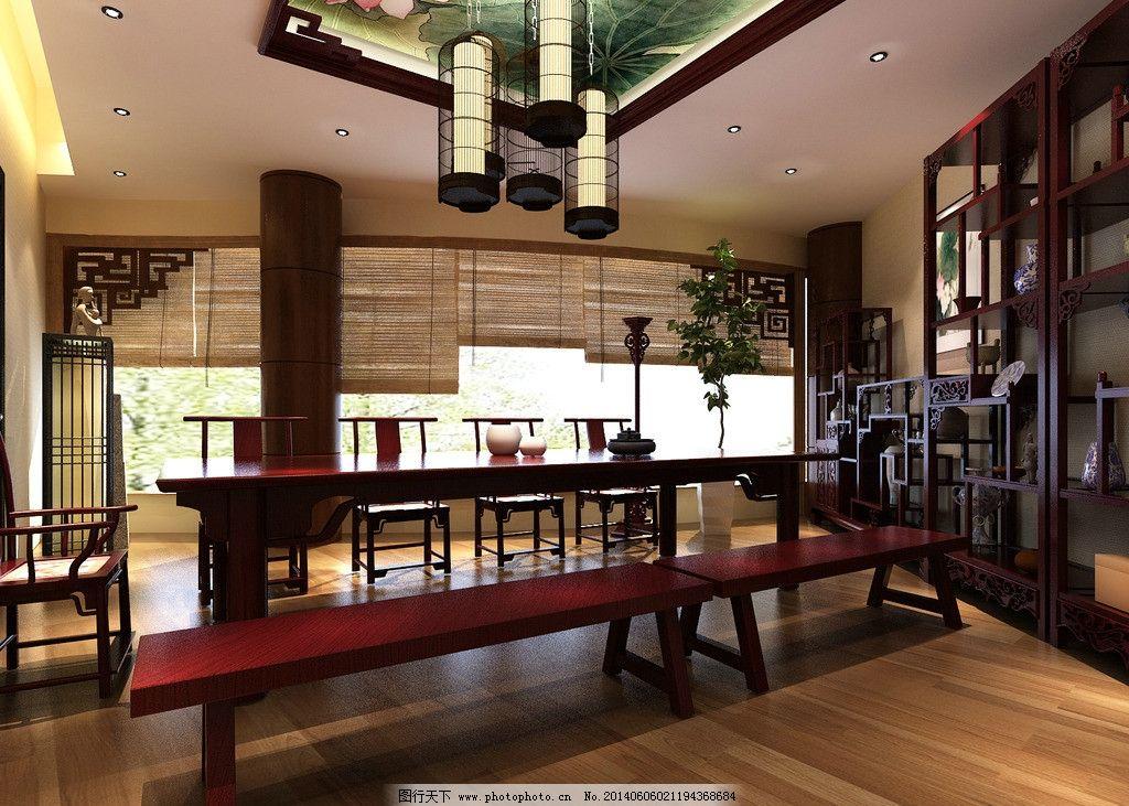 茶室设计 装修 茶室 中式简约风格