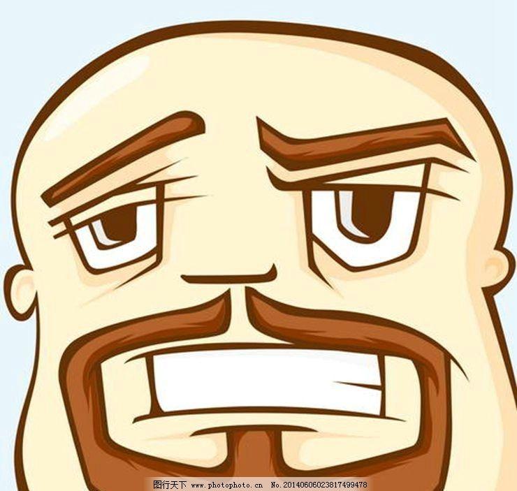 卡通头像 光头 秃头 男人头像