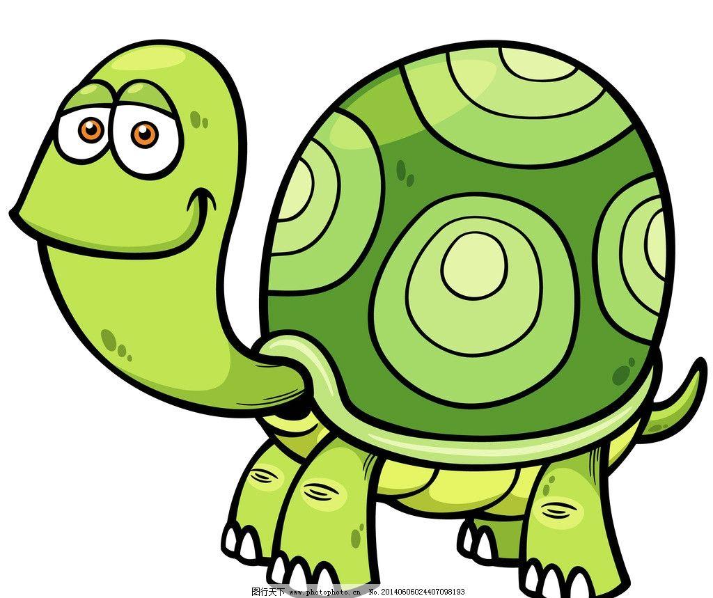 手绘动物 手绘 线描 素描 野生动物 乌龟 卡通 可爱 矢量 美术绘画