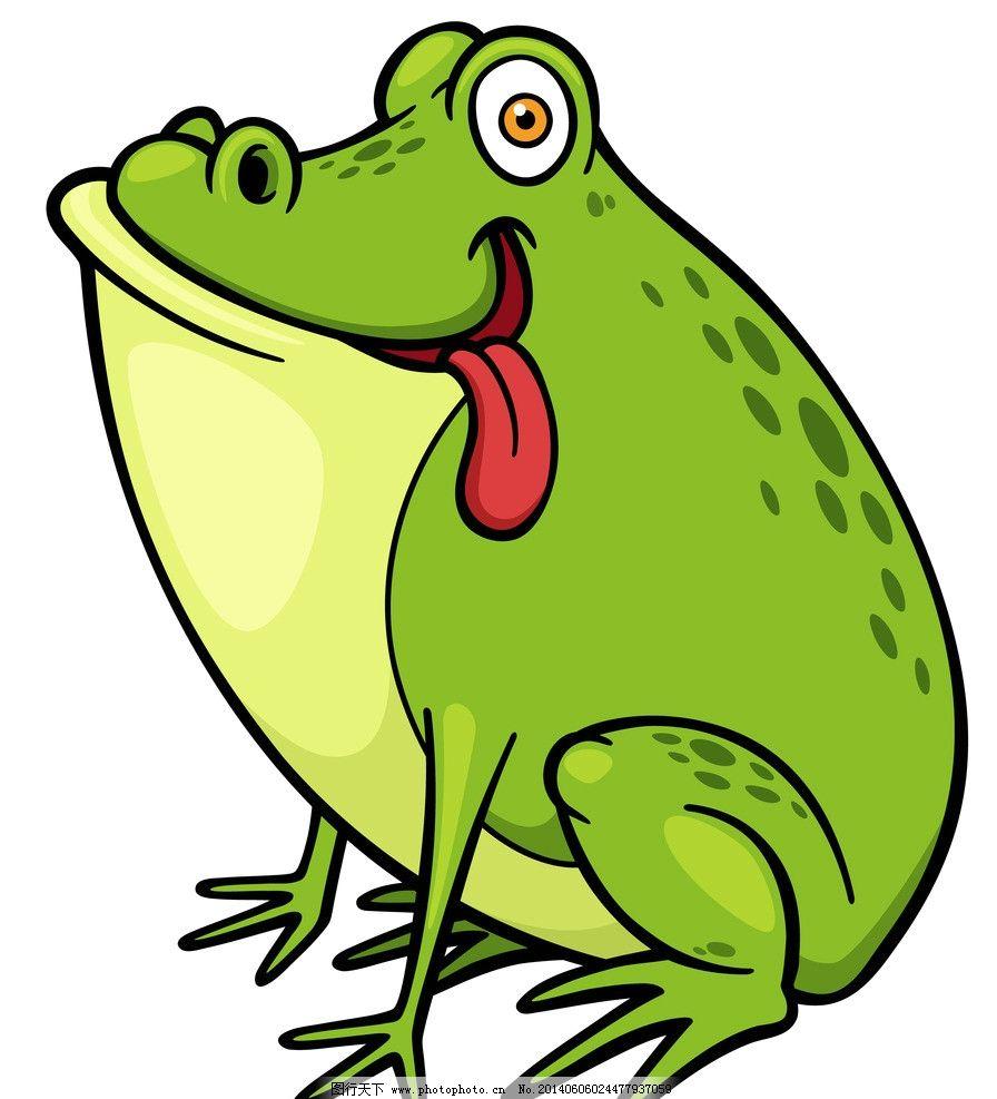 青蛙 手绘动物 手绘 线描 素描 野生动物 卡通 可爱 矢量 美术绘画