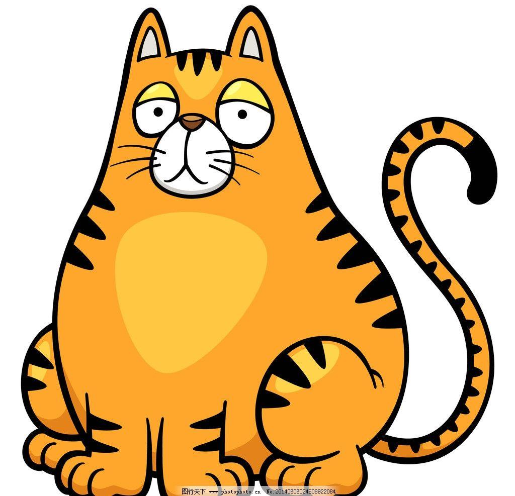 猫咪 手绘动物 手绘 线描 素描 野生动物 卡通 可爱 矢量 美术绘画