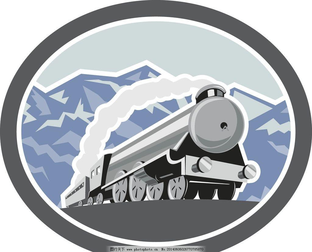 火车 蒸汽火车 火车头 运输 铁路运输 手绘 古董火车火车 列车 火车皮