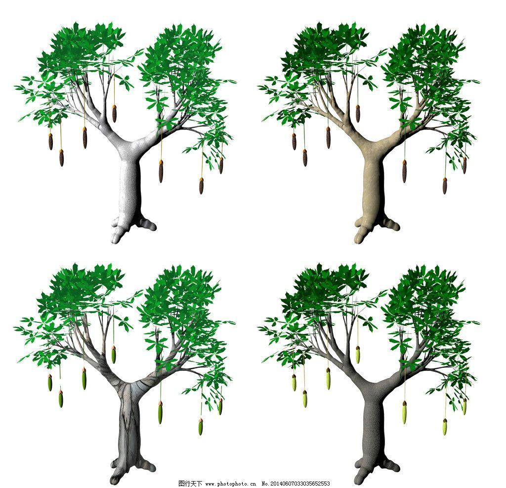 幼儿园卡纸墙面大树